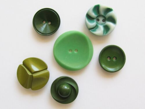 Lot of 6 Vintage Colt Manufact Buttons Green Patterns 1, 5, 39, 53, 74, 81 Lot 6