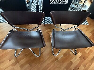 New.  Set Of 2 Z-Down Chair by Erik Magnusson. Leather.