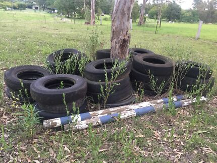 Tyres for horse jumps