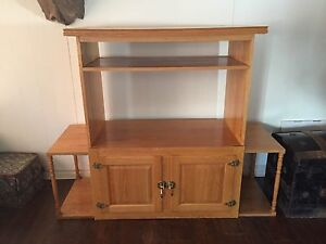 Solid wood tv stand ~ SOLD~ thank you