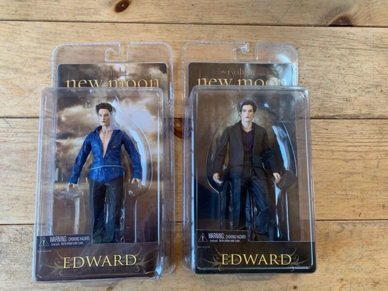 Lot of 2 Edward figures Twilight New Moon Brand New in Packaging!