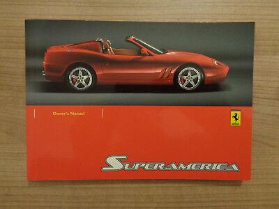 Ferrari Superamerica Owners Handbook/Manual