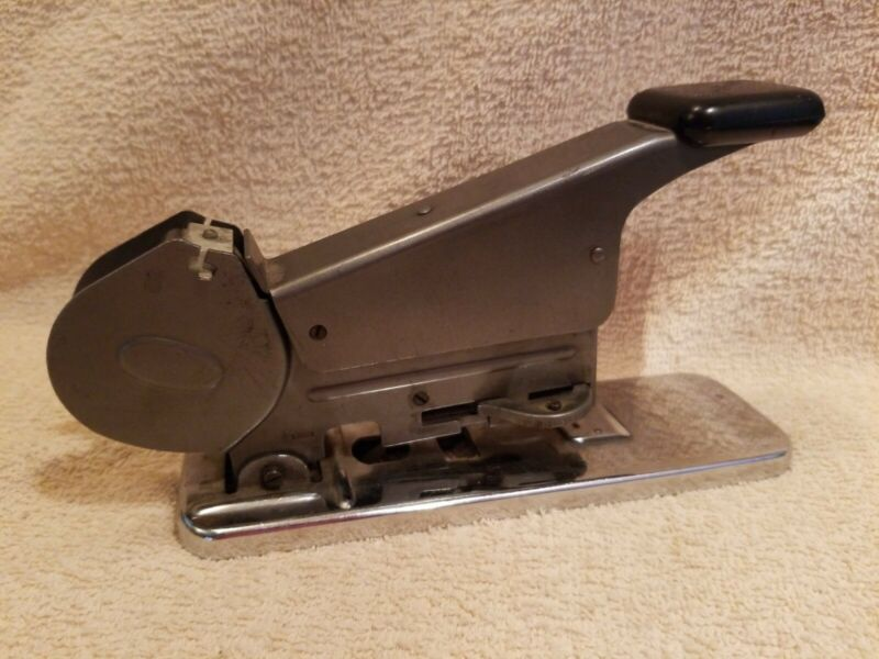 Vintage Bates Model B Wire Feed Stapler Dated March 13, 1936 #1