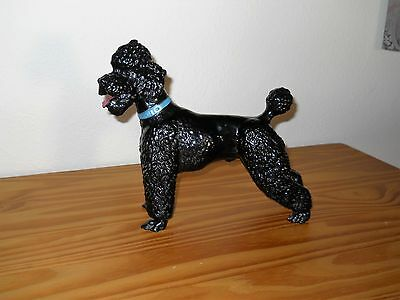 Breyer  HTTF Rare Vintage Large Glossy Black Poodle with Blue Collar