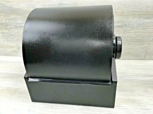 Huge Rolodex Model 2400T Metal Cabinet Black Double Rollers Business Card File