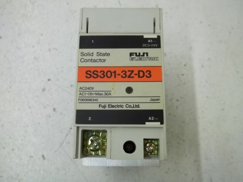 FUJI ELECTRIC SS301-3Z-D3 SOLID STATE CONTACTOR *USED*