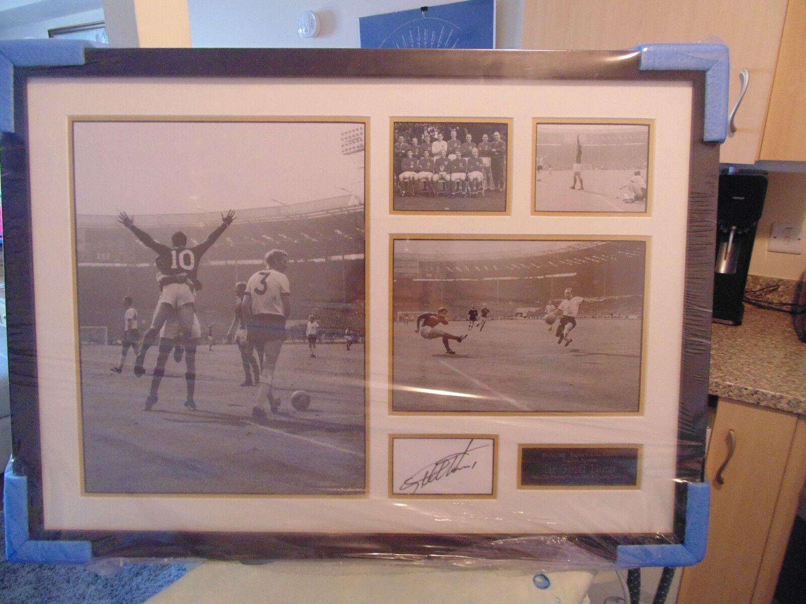 Geoff Hurst Signed World Cup Winner 1966 Wonderland Memorabilia Framed Prints