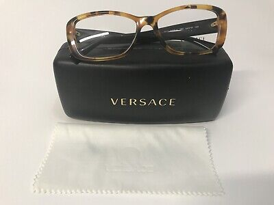 New 100% Authentic Versace Eyeglasses Frames Tortoise MOD. 3228 -A 260 Italy 54m