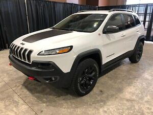 2018 Jeep Cherokee Trailhawk 4x4 W/Leather, 1 Owner Trailhawk Le