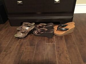 3 pairs of shoes size 6.5