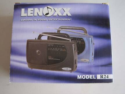 LENOXX AM/FM RADIO MODEL R24 (BLACK COLOUR)