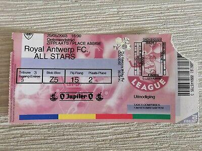 3 Tickets Antwerp FC Oefenwedstrijden