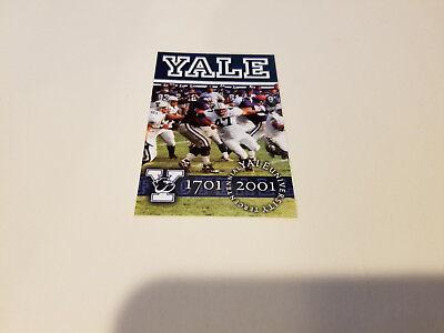 Yale University 2001 Football Pocket Schedule   New Haven Register