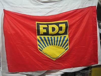 Fahne FDJ Ostalgie Mottoparty DDR NVA Banner Sammeln Selten Wimpel Fasching
