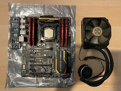 i7 5960X, Gigabyte GA-X99-UD4 Motherboard, 32GB DDR4 RAM, 120mm Watercooler