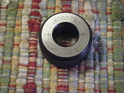 Sunnen Pg 400 Calibration Ring .800075 Pg 800 Gauge Pg400 Setting Fixture