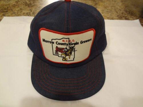 Park Avenue Denim Snap back Truckers cap Morrow County Grain Growers Patch USA