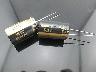 10 Japan Panasonic Fm 6800uf 6.3v 6800mfd Impedance Electrolytic Capacitors