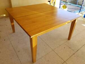 Solid wood dining table - square seats 8