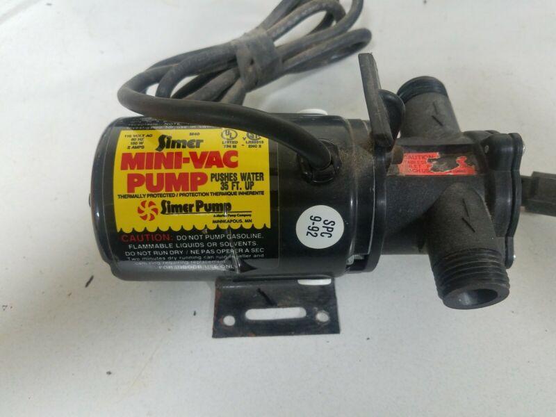 SIMER Portable Utility Pump M40 Mini-Vac 1/12 HP 350 Gallons/Hr EXCELLENT