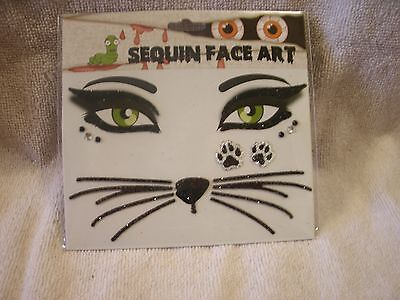 Halloween Sequin Face Art Temporary Tattoos (Face Art Halloween)