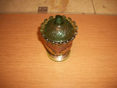 Westmoreland Carnival Glass sugar bowl with lid