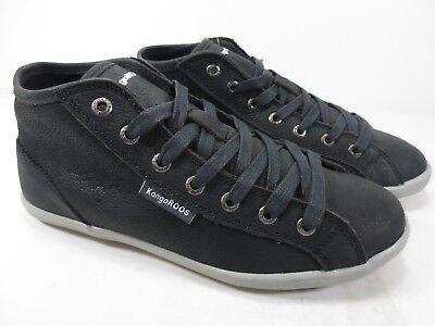 Kangaroos Leder-sneaker (KangaROOS Slagg Leder Schuhe Sneaker schwarz NEU UVP 79,95)