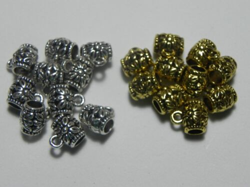 10 pieces Bail Beads Charm Connector Findings 9x8mm ✰✰USA Seller✰✰