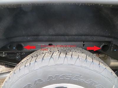 2000-2018 Chevrolet Silverado accessories Rear Wheel Opening Frame Tube Plugs 4 (Chevrolet Silverado Body Kits)