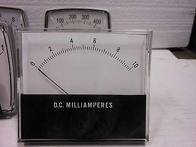 General Electric Panel Meter Dc Milliamperes 0-10