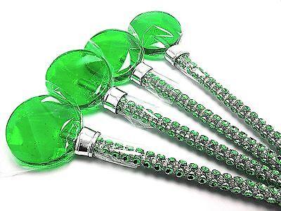 12 GREEN LOLLIPOPS ON BLING LOLLIPOP STICK - PERFECT WEDDING - Green Lollipops