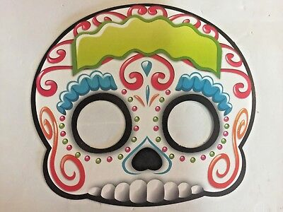 Day of the Dead masks, 20 count, 4 different styles included