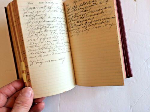 1902 Handwritten Diary Journal  MN Farming Store Work Records Manuscript Antique