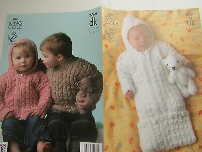 Baby Childs Sweater, Jacket & Sleeping Bag knitting pattern free uk p&p