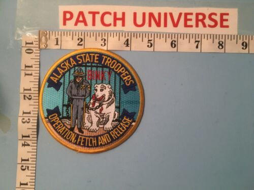 ALASKA STATE TROOPERS OPERATION FETCH AND RELEASE  SHOULDER PATCH  L056