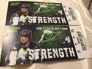 Rush Tickets - Feb 18 Home Game