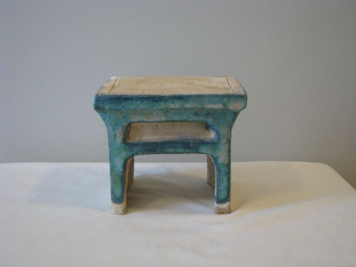 Chinese Ming Dynasty Pottery Green Glazed Tomb Table