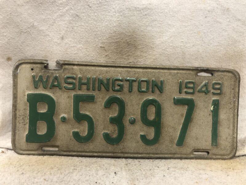 Vintage 1949 Washington License Plate