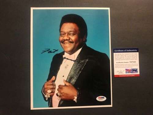 Fats Domino Classic signed autographed blues legend 8x10 Photo PSA/DNA cert