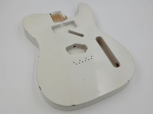 Nitro Lacquer Aged Relic Oly White T-style Vintage Custom Guitar Body
