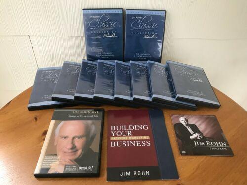 THE MAKING OF A LEADER WEEKEND BY JIM ROHN - 10 DVDS & 3 FREE BONUS ROHN ITEMS!