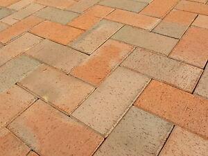 (15,99 €/m²) Pflasterklinker Pflastersteine Klinker-Pflaster 20x10x5,2 rot bunt
