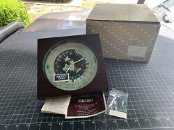 Vintage Seiko World Time Desk Mantel Clock Aviation Transportation MCM Japan