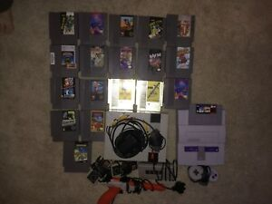 NES and SNES with controllers, games etc