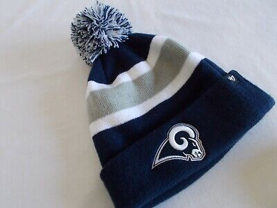 NWT 47' NFL BREAKAWAY CUFF BEANIE Officially Licensed LOS ANGELES RAMS Blue Wht - Licensed Nfl Beanie
