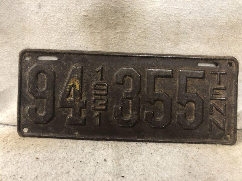 Vintage 1931 Tennessee License Plate