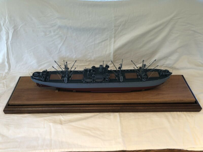 "WWII Liberty Ship 28"" Wooden Model by Master Shipwright R. Hambidge"