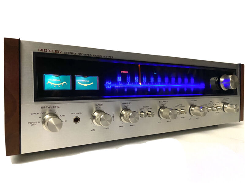 Pioneer SX-727 AM/FM Stereo Receiver Vintage AUDIOPHILE SERVICED 100% MINT COND.