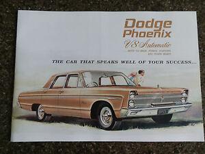 1965 DODGE PHOENIX ''RARE'' RHD AUST SALES  BROCHURE  100% GUARANTEE