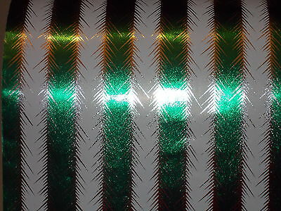 - VTG 1950 FOIL CHRISTMAS WRAPPING PAPER 2 YARDS GIFT WRAP SILVER TINSEL GREEN